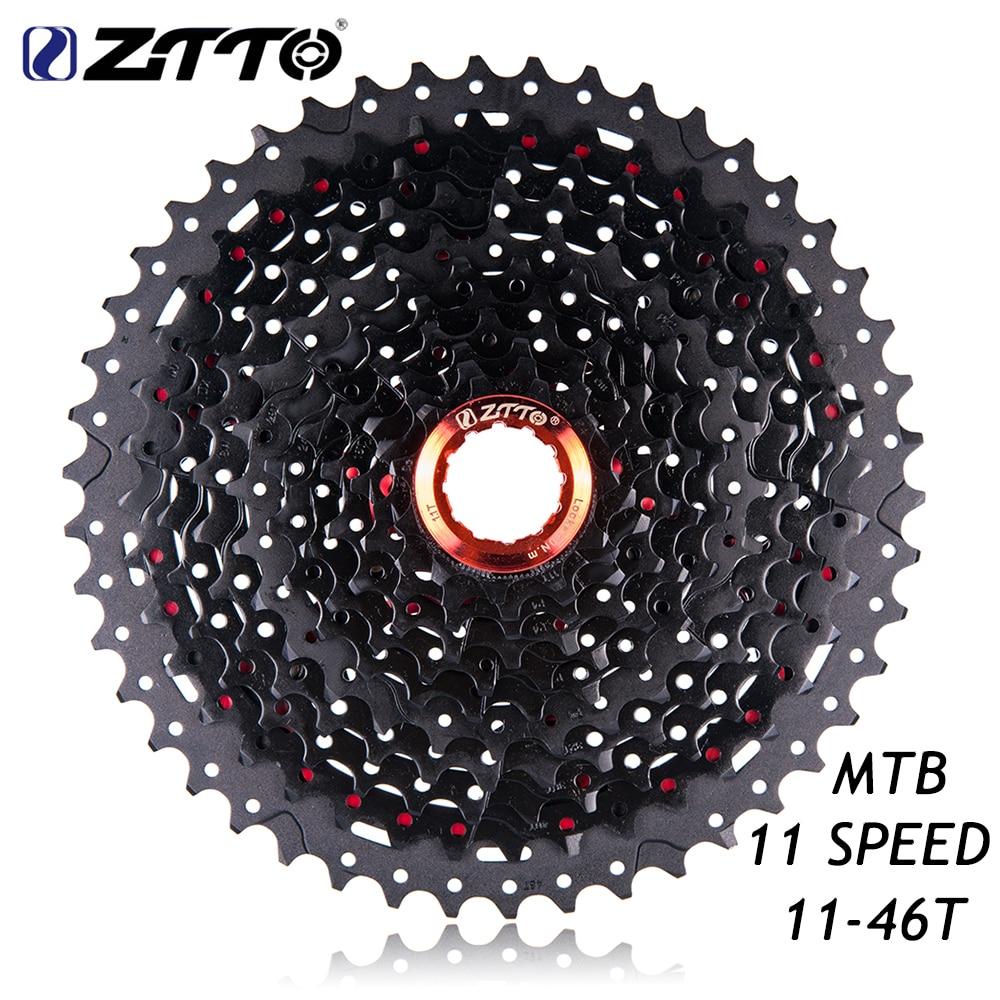 ZTTO 11-46T MTB Mountain Bike Bicycle Parts 11s 22s 11Speed Freewheel Cassette for Parts XT SLX M7000 M8000 M9000 K7 2018 anima 27 5 carbon mountain bike with slx aluminium wheels 33 speed hydraulic disc brake 650b mtb bicycle