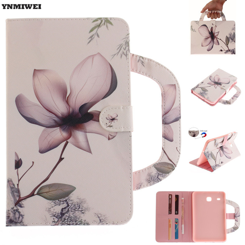 YNMIWEI For Samsung Galaxy Tab E 8.0 T377 T375 PU Portable Leather Case For Samsung TabE 8 inch T377V Printing Flip Stand Cover ...