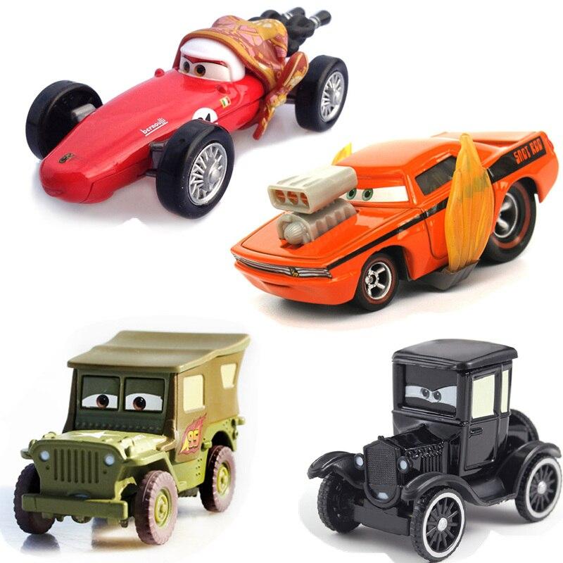 Disney Pixar Cars 3 2 Toys Lightning McQueen Jackson Storm Lizzie Flo Mater 1:55 Diecast Metal Alloy Model Cars Kid Gift Boy Toy