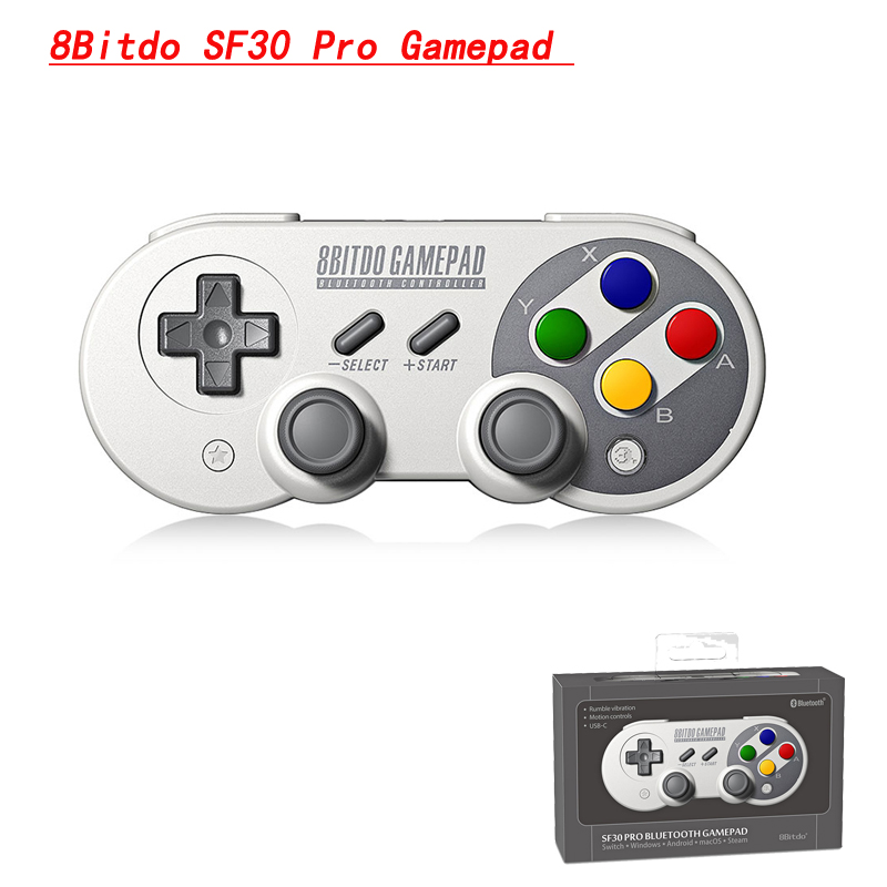 8Bitdo SF30 Pro Gamepad Controller Joystick for Nintendo Switch Windows Mac OS Android Rumble Vibration Motion Controls SN30