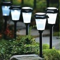 Modern LED Solar Garden Light, Solar Powered LED Lawn Pathway Lamp Outdoor Lighting Luz,Bulb Included
