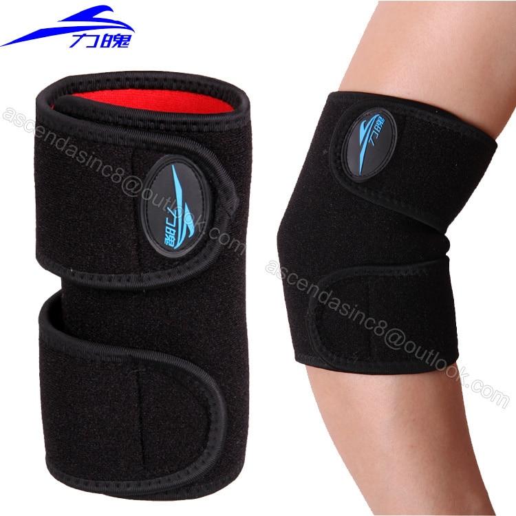 Prix pour Droit Coude brace soulagement douleur au coude réglable élastique Forte Sport Badminton coudière protecteur pad 1 pièce
