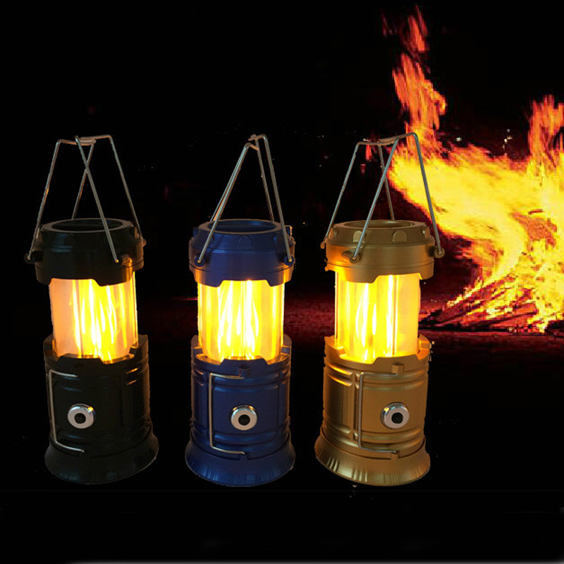 Outdoor Camping Light Portable 30LED Camping Lantern / Flame Camping Light/Magnet Camping Light Flashlights Battery Powered LED