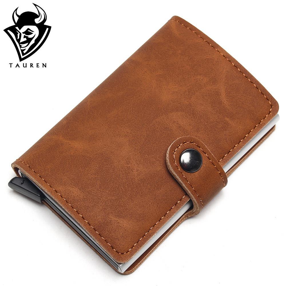 Алюминий бумажник с заднего кармана ID держатель для Карт RFID Блокировка мини-волшебный кошелек бумажник автоматические всплывающие кредитн... ...