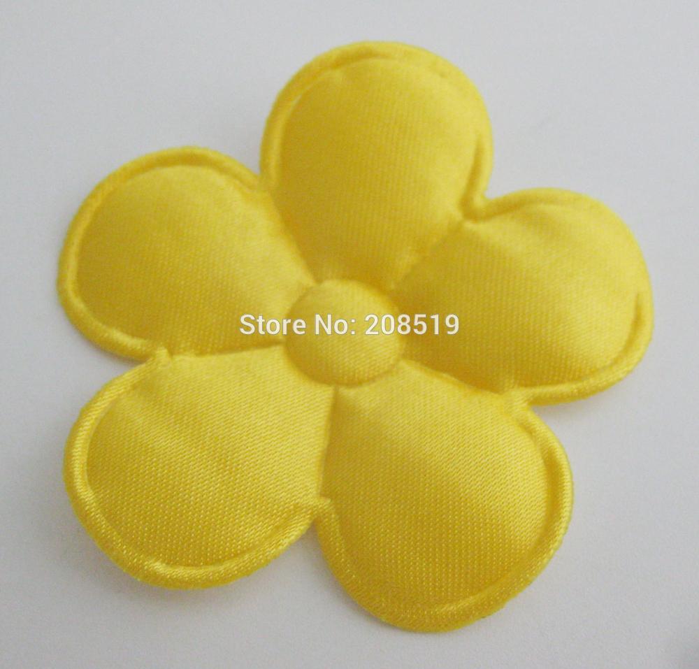 PANVGG 47 мм Цветочные аппликации 12 видов цветов DIY Скрапбукинг Цветочные нашивки 120 шт. головные уборы цветочный орнамент войлочный - Цвет: gold 47mm