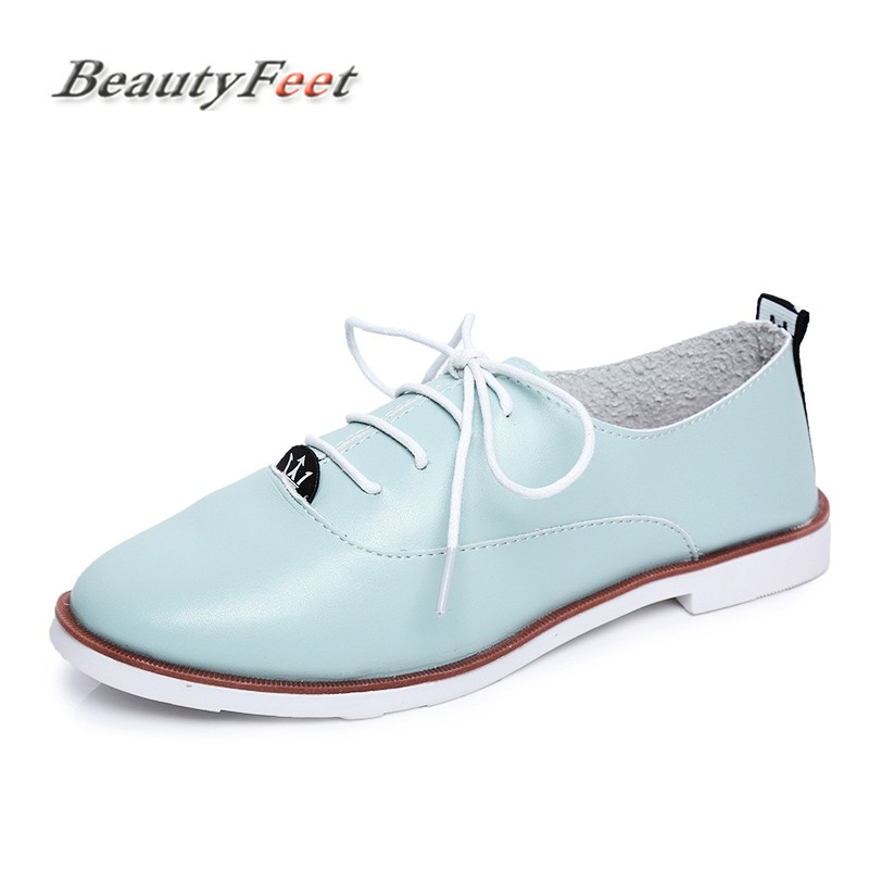 BeautyFeet Spring Women Platform Shoes Woman Brogue Patent Leather Flats Lace Up Footwear Female Flat Oxford Shoes for Women big size 33 42 brogue oxford shoes women spring autumn nubuck leather oxford shoes flats shoes woman moccasins ladies gg shoes