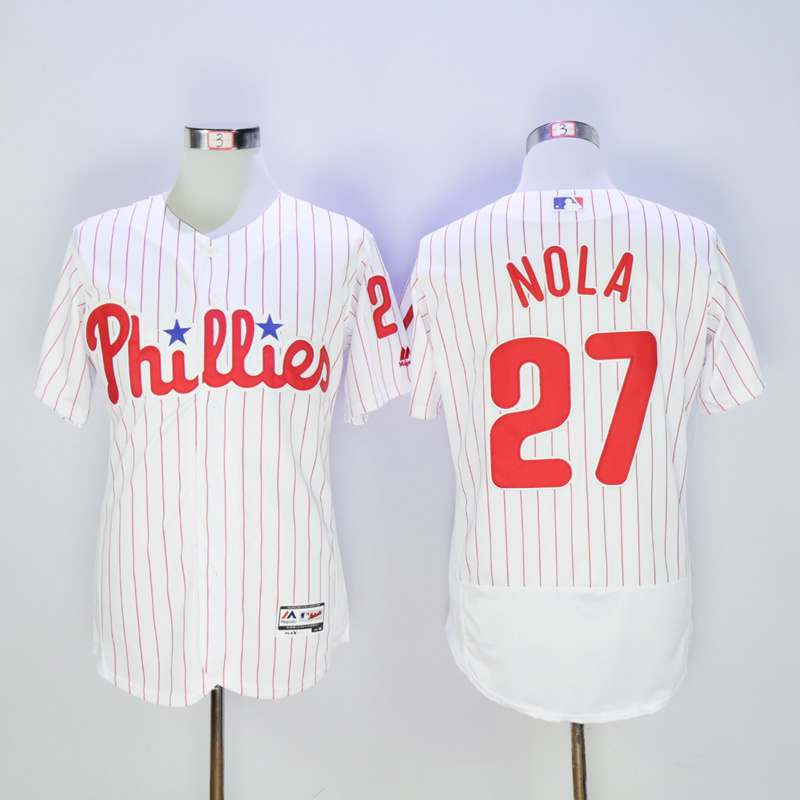 MLB Mens Philadelphia Phillies Aaron Nola Flex base jersey
