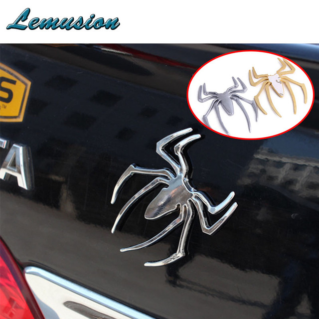 Car styling 1pc car stickers metal spider for hyundai i30 solaris accent citroen c4 c5