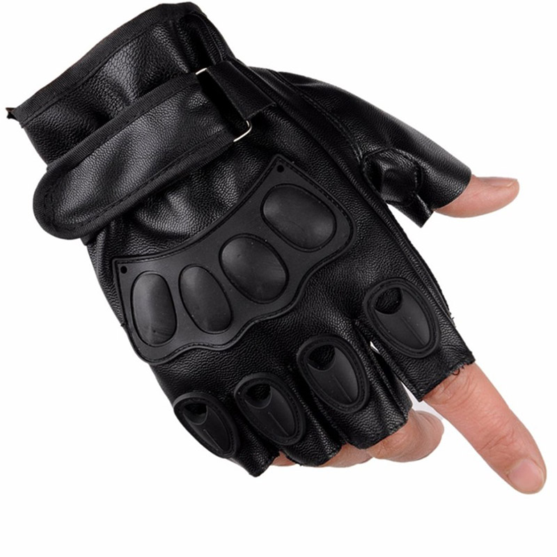 LESHP-Half-Finger-Gloves-PU-Leather-Men-Gloves-For-Tactical-Military-Exercise-Training-Sports-Motorcycle-Ridding (3)