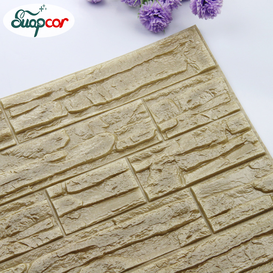 New 3D Wall Panels Kids Room 3D Stone Pattern Wallpaper For Living Room Bedroom Home Decor Waterproof Self Adhesive Wall Papers