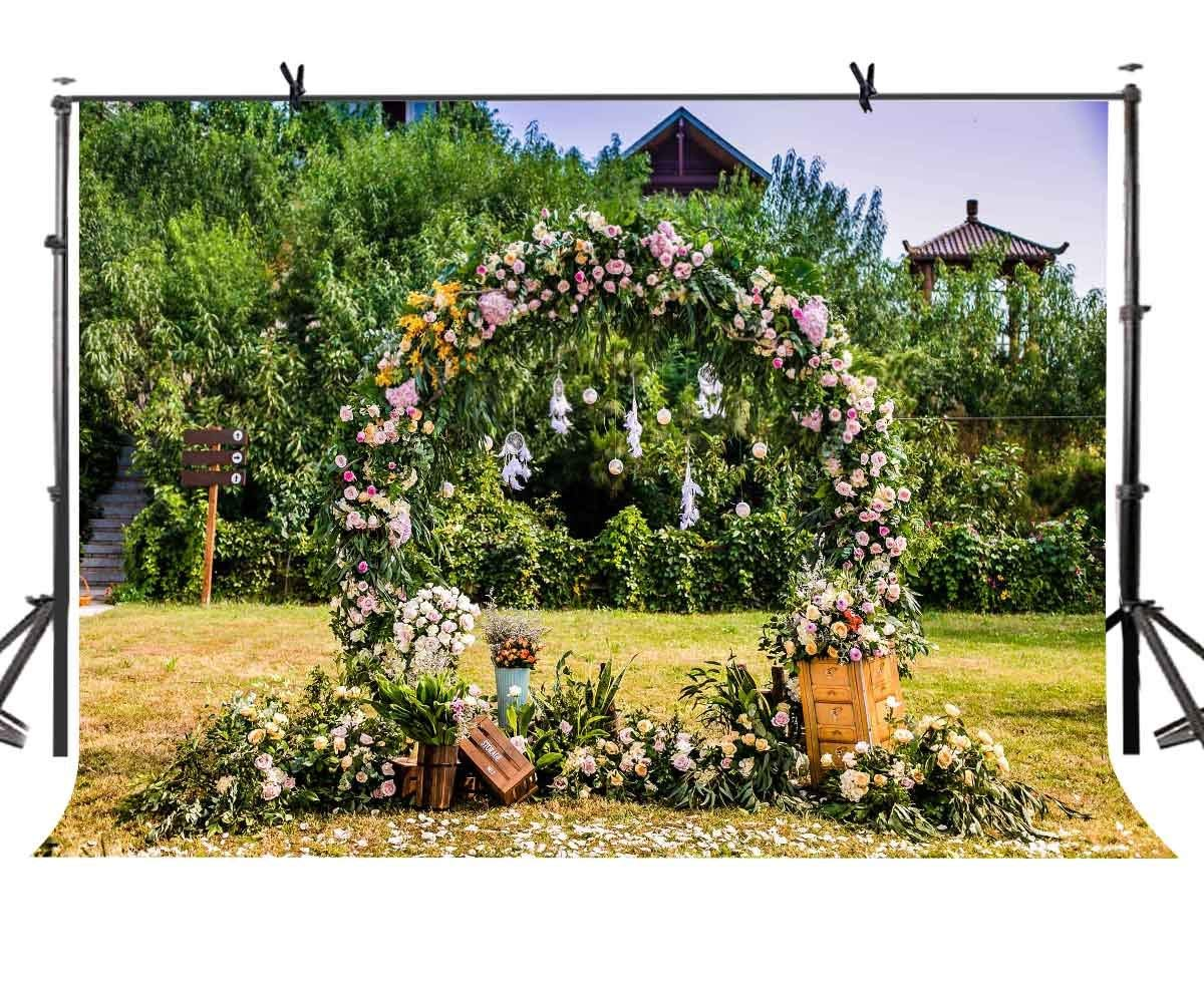 150x220cm Wreath Arches Backdrop Outdoor Picnic Photography Props