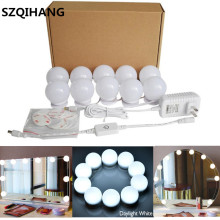 10Pcs Bulbs LED Makeup Comestic Mirror Light Kit with Dimmable Bulb Adjustable Brightness lights