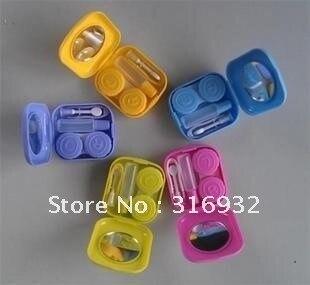 wholesale 10 pcs/lot Plastic Contact Lens Travel Kit Box Set, companion sets