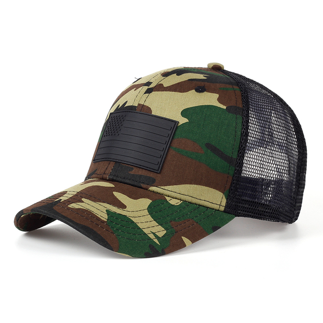TUNICA New army special forces camouflage baseball cap American flag Camo  outdoor jungle cap Stylish men and women can adjust c6c96d8067a
