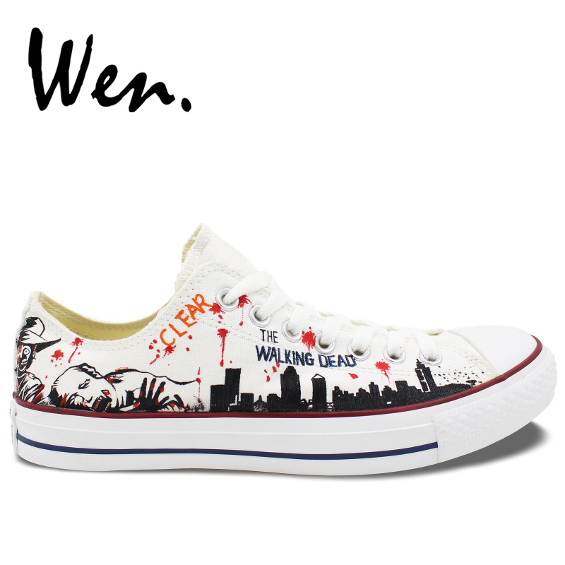 5333a020b59e Wen White Hand Painted Casual Shoes Custom Design The Walking Dead Women  Men s Low Top Sneakers Canvas Christmas Birthday Gifts