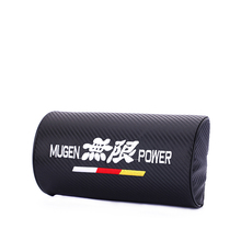 Embroidery for MUGEN emblem Carbon fiber style headrest soft Neck Pillow honda civic accord gk5 crv jazz s2000 accessories
