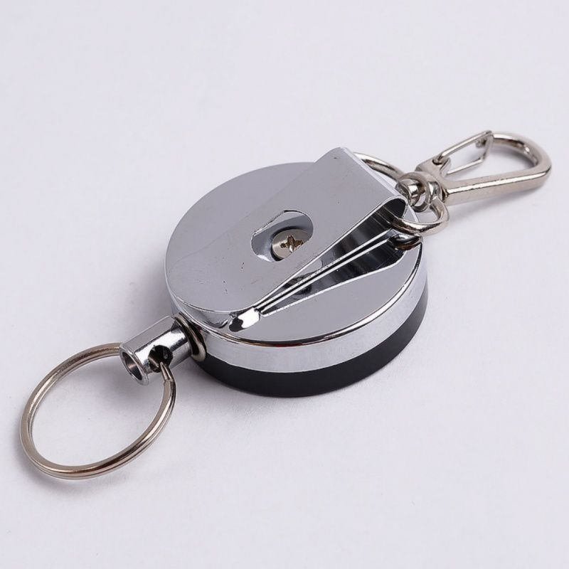 1 Pcs Easy Pull Buckle 4 High Resilient Telescopic Rope Key Ring Anti Lose Anti-theft Stretch Keychain Outdoor Multi-tool