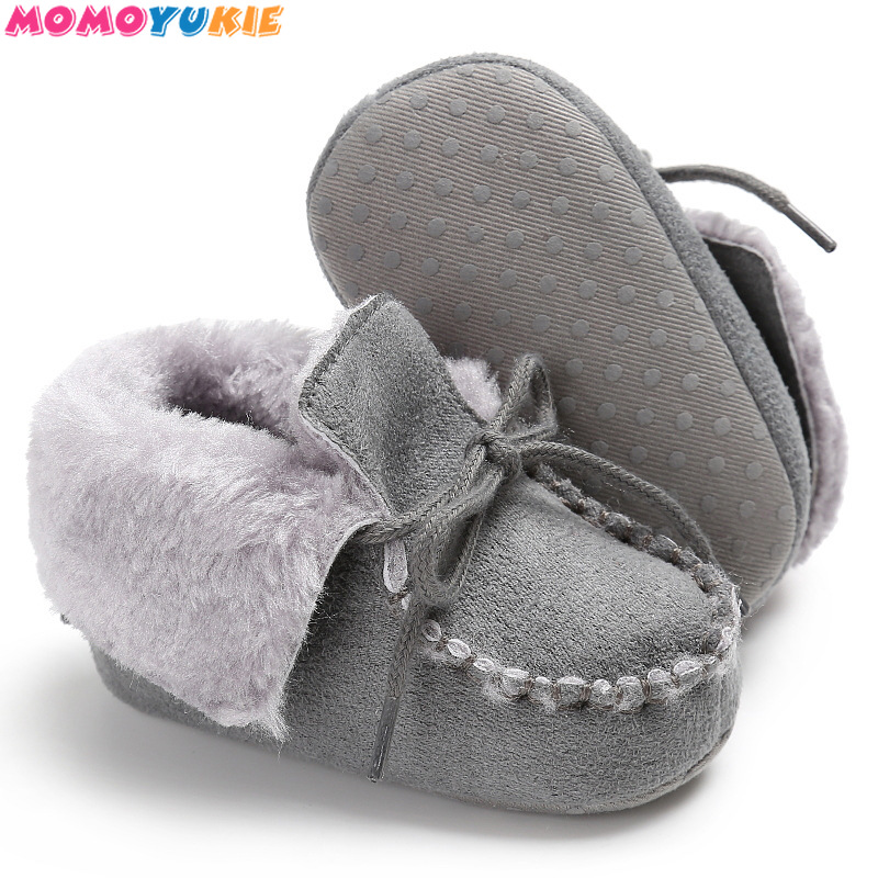 Winter Baby Shoes Boots Infants Warm Shoes Fur Wool Girls Baby Booties Sheepskin Genuine Leather Boy Baby Boots