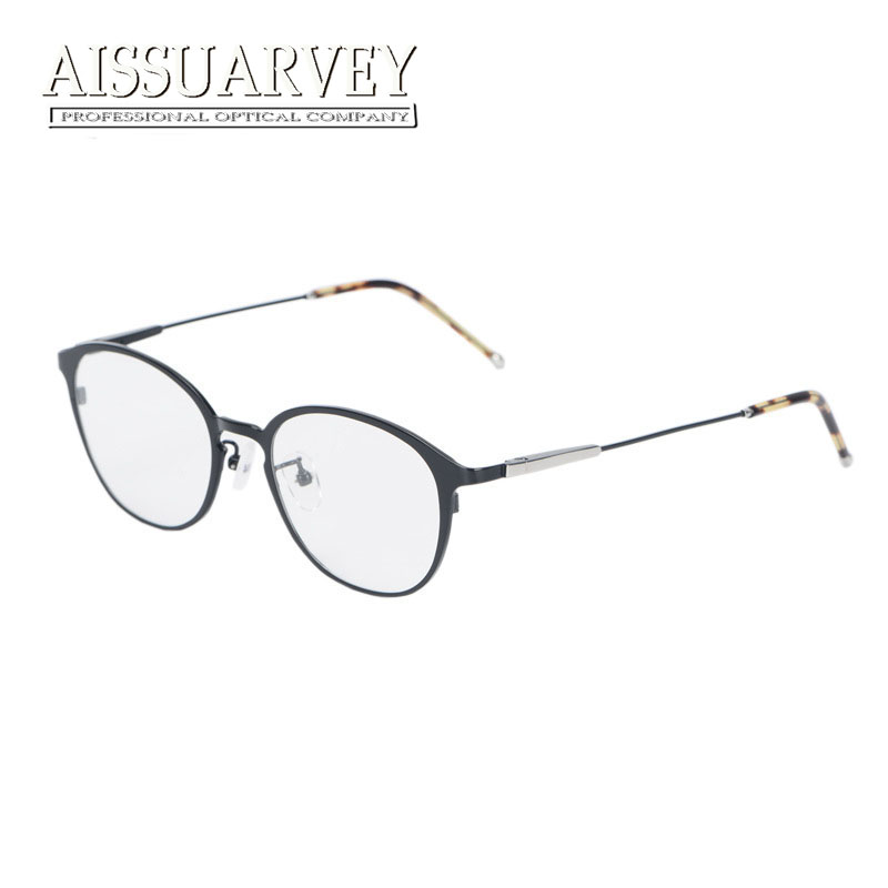 Titanium Glasses Frames for Men Women Eyewear Optical Eyeglasses Fashion Brand Designer Prescription Round Circle Top