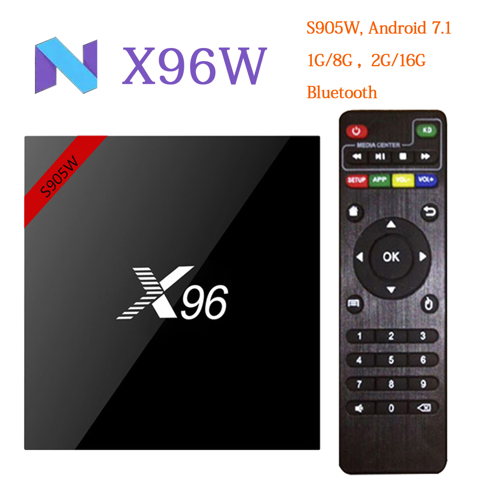 RUIJIE X96 X96W Smart Android TV Box Android 7.1 Mini Box TV Amlogic S905W Quad Core 1G/8G 2G/16G Support 2.4GHz WiFi 4K H.265 s905 t9s plus android tv box amlogic quad core 2g 16g 2 4 ghz android 5 1 h 265 hdmi 2 0 miracast dlna smart tv caja
