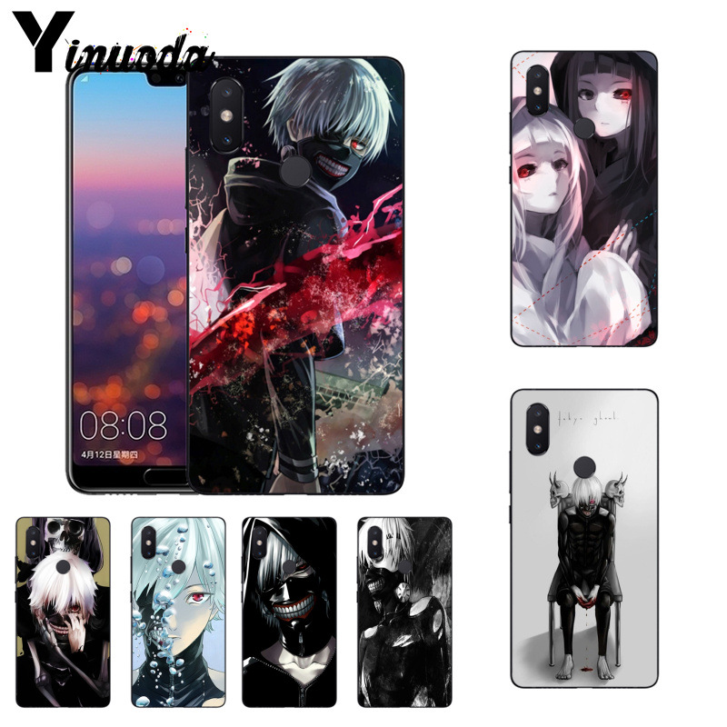 Yinuoda Black and White Anime Tokyo Ghouls phone case for Xiaomi Mi 6 Mix2 Mix2S Note3 8 8SE Redmi 5 5Plus Note4 4X Note5