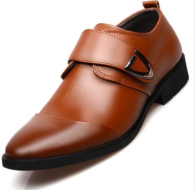 c832884f3 2018 ¡oferta! Zapatos de vestir formales de marca de moda para ...