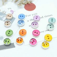 10pcs-100pcs Multi-size Round Resin Buttons 2 Holes Decoration DIY Muti-color Children Button Clothing Accessories Sewing