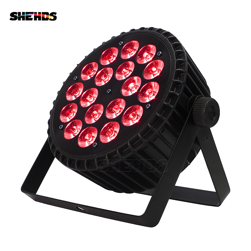Hot Sell Aluminum Alloy LED Flat Par 18x18W Lights RGBW 6IN1 LED Lighting DMX512 Disco Lights Professional Stage DJ Equipment