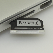 "BASEQI Aluminum MiniDrive Micro SD Card Adapter Memory Card Reader For Macbook Pro Retina 15"" Late 2013/After Model 504A"