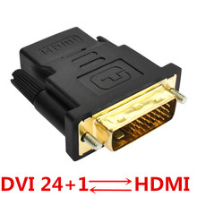 1pcs DVI to HDMI Adapter Converter DVI 24+1 Male to HDMI Female Converter for HDTV LCD PC Computer DVD Projector PS3 PS4 TV BOX 2 in 1 hdmi male to dvi female hdmi female to dvi male adapter black golden
