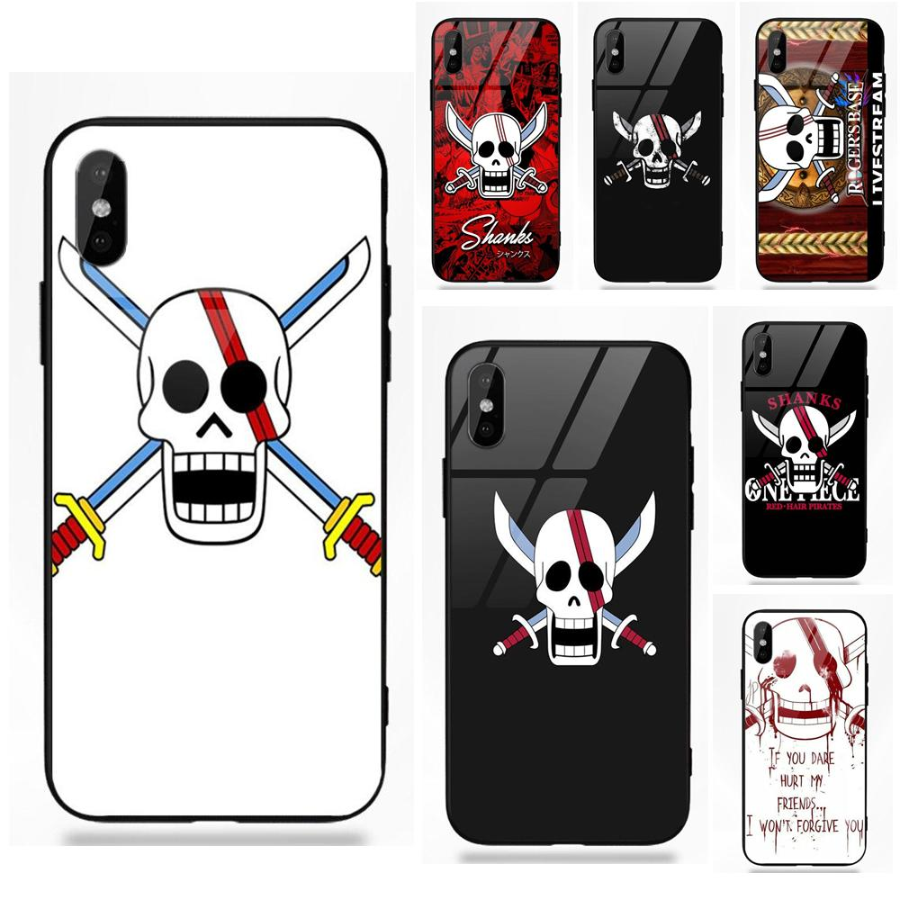 2019 Fashion One Piece Red Hair Shanks Skull Flagus For Apple Iphone 5 5c 5s Se 6 6s 7 8 Plus X Xs Max Xr To Have Both The Quality Of Tenacity And Hardness