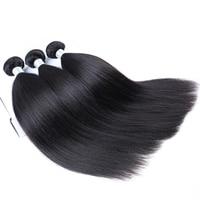 Yaki Straight Hair Brazilian Hair Weave Bundles 3 Pieces Light Yaki 100% Human Hair Extension Remy Dolago Hair Products