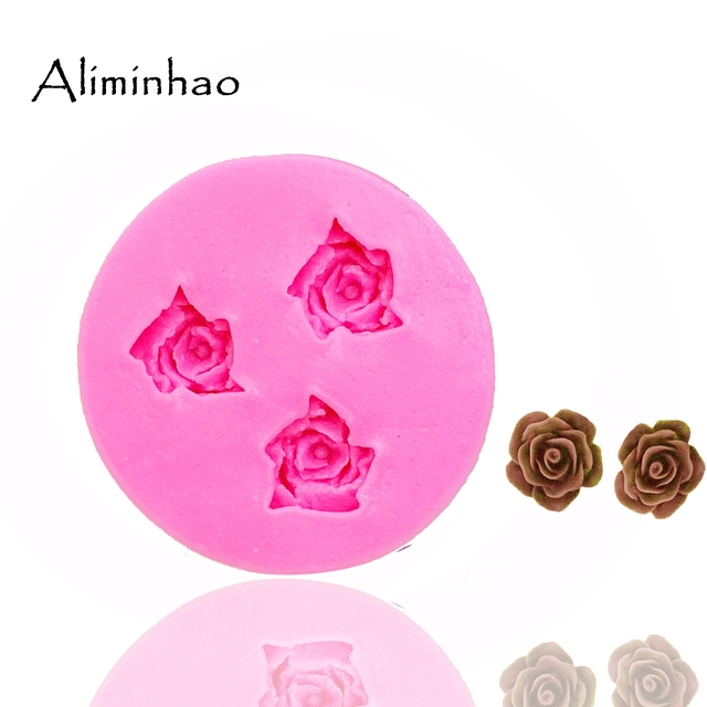 Gem Keychain Mold with Hole Cake Clay Silicone Mould Candy Chocolate Molds~