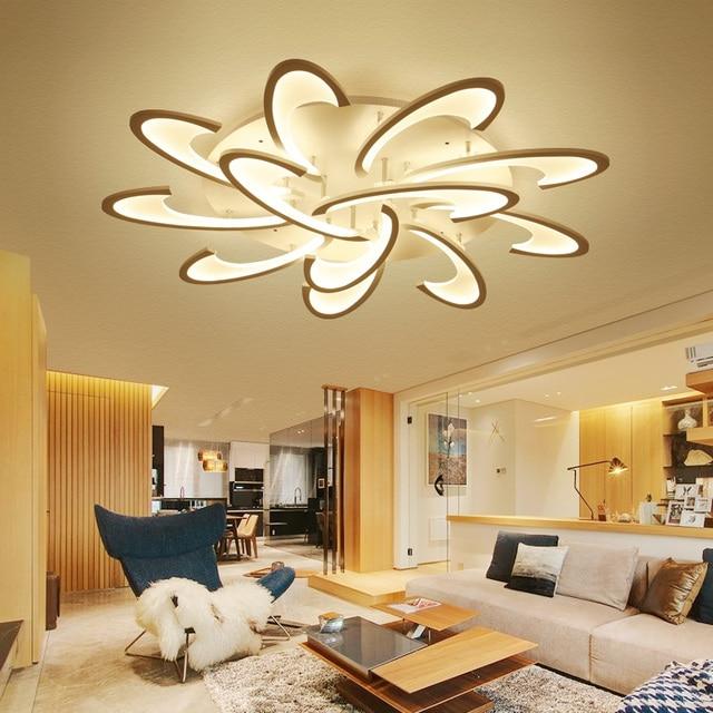 bloem acryl led plafondlamp moderne woonkamer plafondlamp thuis indooor verlichting voor. Black Bedroom Furniture Sets. Home Design Ideas