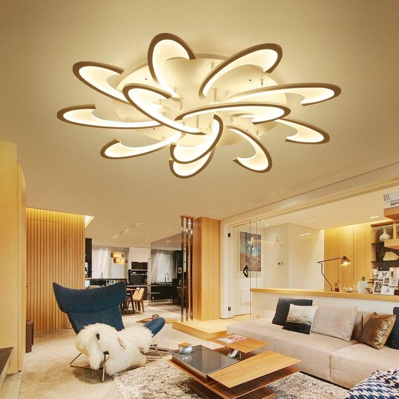 Blume Acryl Led deckenleuchte Moderne Wohnzimmer Deckenleuchte Hause ...