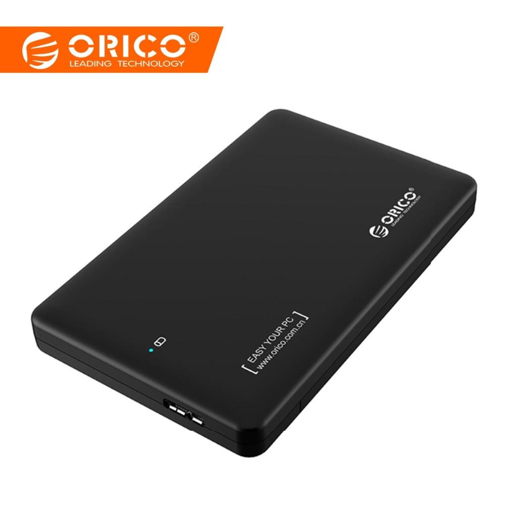 ORICO 2.5 դյույմանոց hdd գործի սատա USB 3.0 HDD Case SSD ադապտեր Samsung Seagate SSD hdd պարիսպ Կոշտ սկավառակի արտաքին տուփ