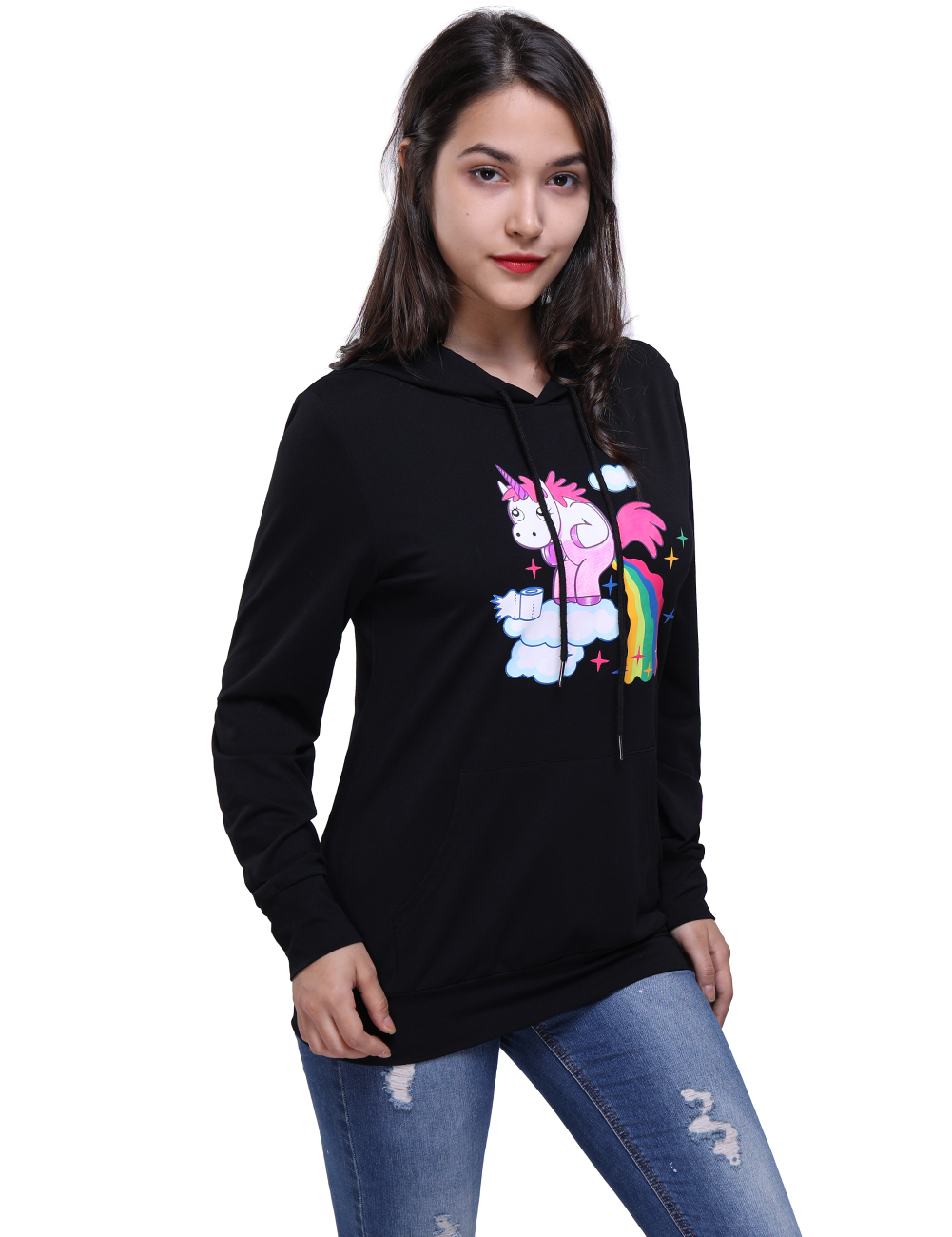 Autumn Winter Women Hoodies Long Sleeve Fashion Horse Printed Funny Hip Hop Fleece Hoodies Clothing
