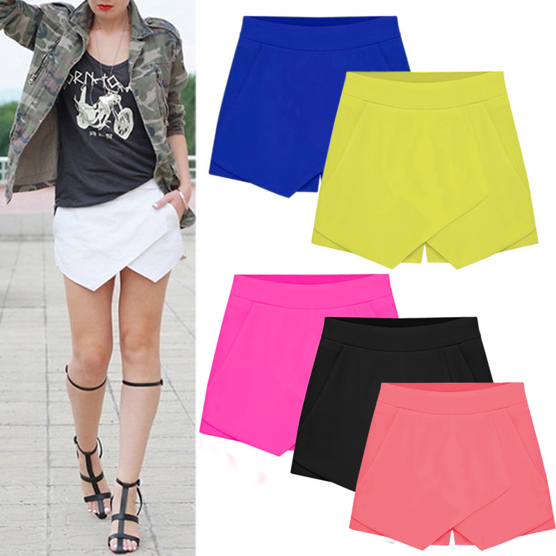 HTB1ICFAHFXXXXaRXFXXq6xXFXXXl - Shorts Culottes New Shorts Skirt Plus Size S-XXL PTC 233