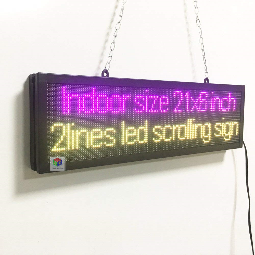 Electric Display Text Image Logo Board New Indoor SMD Full Color LED Business Open Sign