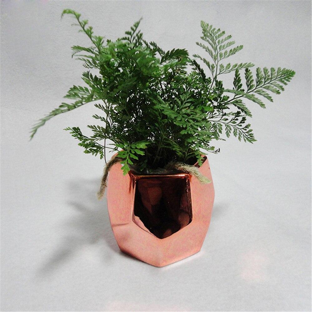 Nordic Chic розовое золото керамики хранения Jar Танк минималистский покрытием Стиль разное Организатор Цветочная ваза стол хранения олово для д...