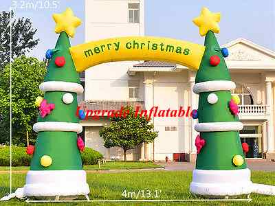 4m merry christmas inflatable tree arch outdoor decoration inflatable christmas arch for holiday in ballons accessories from home garden on