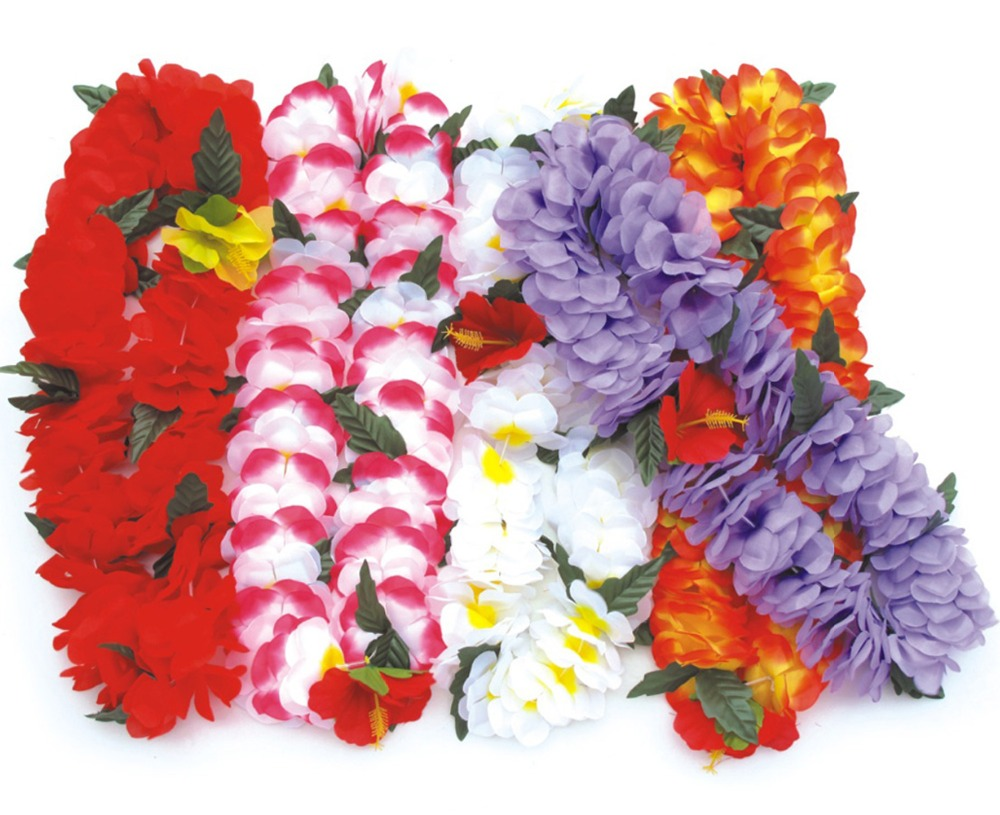 Compare prices on hawaiian graduation leis online shoppingbuy 10 pcs wedding birthday party supplies artificial flower garland hawaiian flower lei luau stylechina dhlflorist Gallery