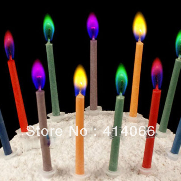 5Packs Wholesale Magic Colored Flames Candle Birthday Party Decoration 5pcs Pack