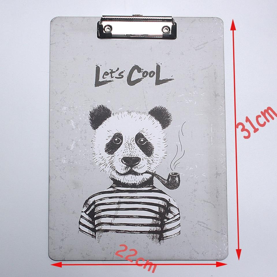 US $5 81 OFF Hewan Lucu A4 Ukuran Gambar Kayu Clipboard Folder Stasioner Papan Lukisan Menulis Piring Klip Sekolah Fice Supplies Clipboard