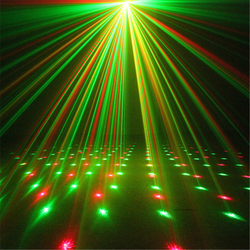 Mini Black Shell Portable IR Remote Red Green Laser Projector Lights DJ KTV Home Xmas Party Show Dsico LED Stage Lighting I100B