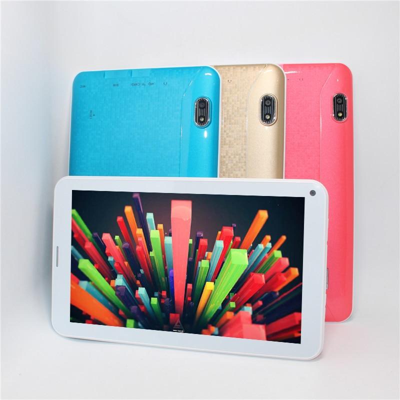 "bilder für Günstige Tablet 7 ""MTK 2G GSM SIM Phone Call Tablet PC Dual Core Android 4.4 512 MB/4 GB Bluetooth WIFI 1,2 GHZ Geschenk usb led"