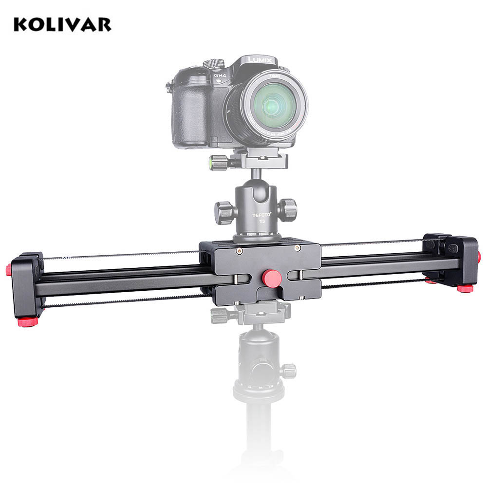 Kolivar Pro 19 50cm Compact DSLR Camera Video Slider with Double Travel Distance Shoot Video Camera