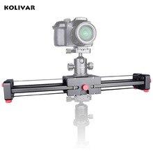 Kolivar Pro 19 «/50 cm Compact DSLR Caméra Vidéo Curseur avec Double Voyage Distance Tournage Vidéo Caméra Piste Dolly Rail Curseur