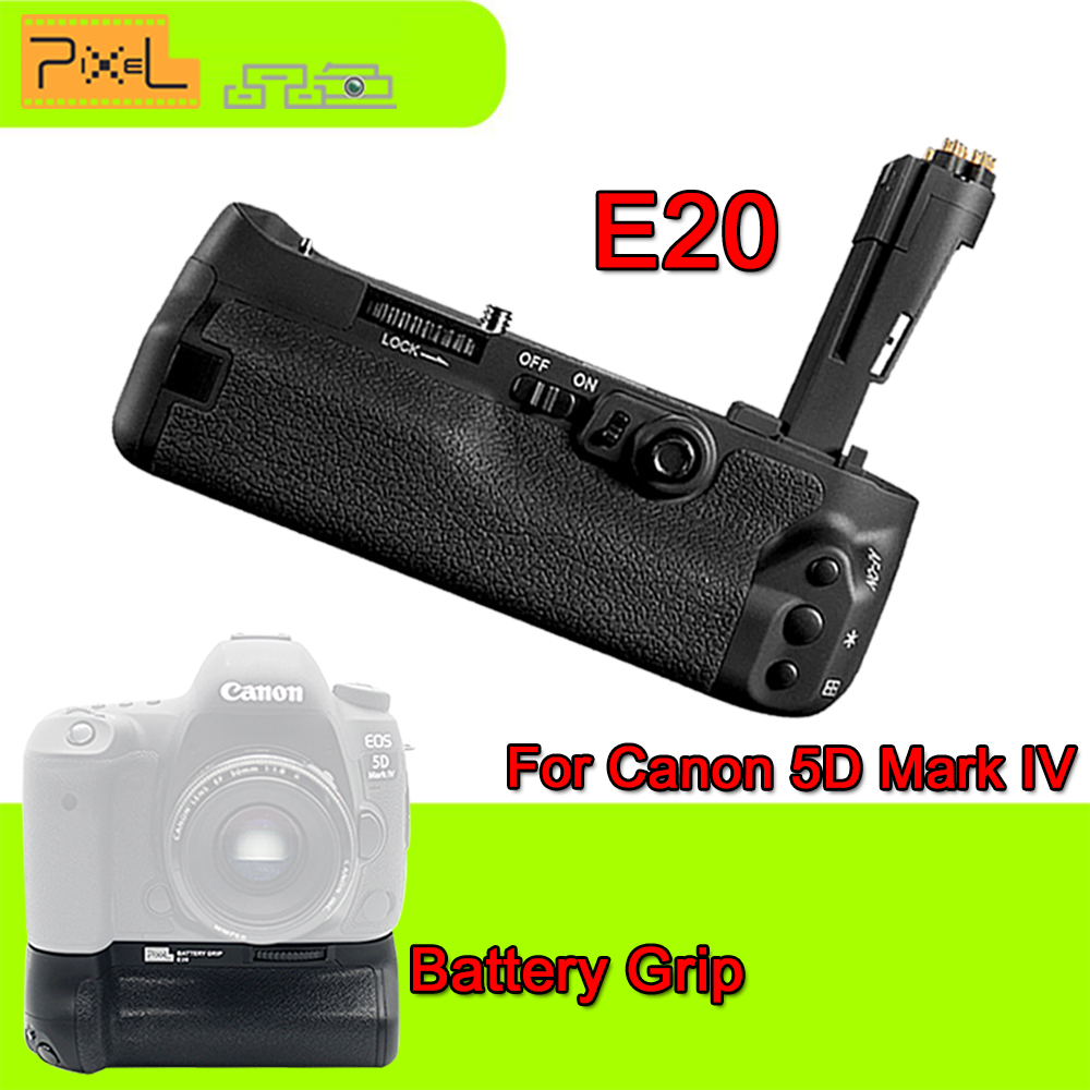 Camera Battery Grip Pixel BG-E20  for Canon EOS 5D Mark IV DSLR Cameras Batteries E20 LP-E6/LP-E6N(Replacement for Canon BG-E20) батарейный блок для фотокамеры travor bg e11 canon eos 5 d mark iii 3 dslr lp e6