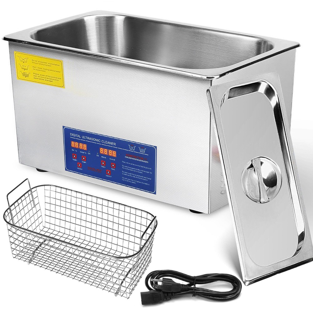 New 30L Jewelry Cleaning Digital Stainless Steel Ultrasonic Cleaner